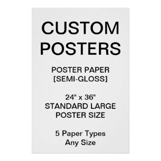 "Custom Personalized 24""x36"" Semi-Gloss Poster"