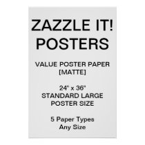 """Custom Personalized 24""""x36"""" Value Matte Poster"""