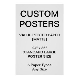 "Custom Personalized 24""x36"" Value Matte Poster"
