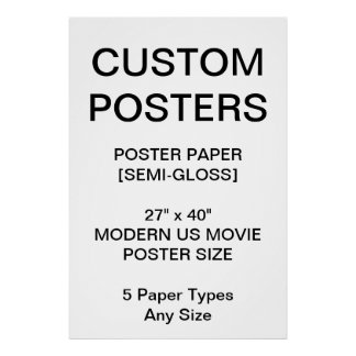 "Custom Personalized 27""x40"" Semi-Gloss Poster"
