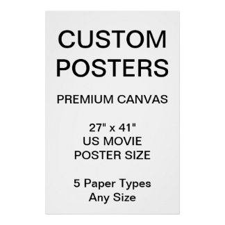 "Custom Personalized 27"" x 41"" Canvas Poster Blank"