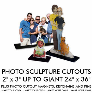 "Custom Personalized 2"" x 3"" Photo Sculpture"