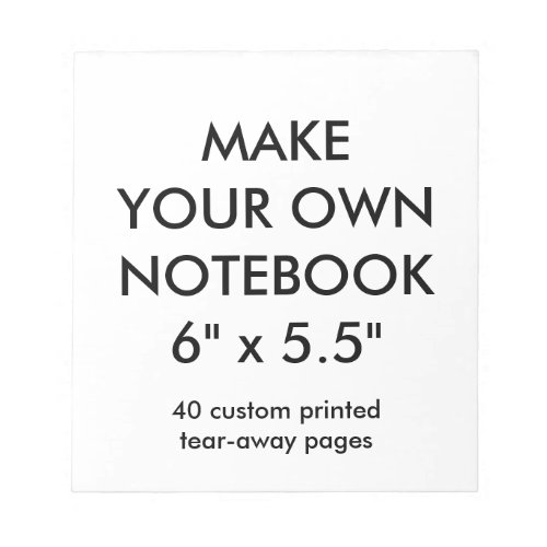 Custom Personalized 40 Tear_Away Page Notepad