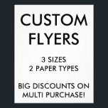 """Custom Personalized 4.5x5.6&quot; Flyers Blank Template<br><div class=""""desc"""">Custom printed personalized BUDGET VALUE PAPER SMALL 4.5&quot; x 5.6&quot; FLYERS / LEAFLETS Blank Template. Design, create, make your own. Your photo, image, graphics, text, logo in high quality full color full-bleed edge-to-edge print on both sides of your flyers. Choose from Basic or Value paper type and from 3 sizes...</div>"""
