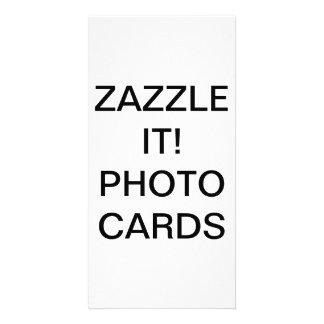 "Custom Personalized 4"" x 8"" Photo Card Blank"