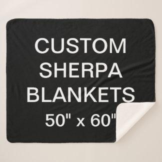 "Custom Personalized 50"" x 60"" Sherpa Blanket Blank"