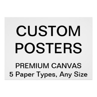"Custom Personalized 56""x40"" Canvas Poster Blank"