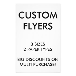 "Custom Personalized 5.5x8.5"" Flyers Blank Template"
