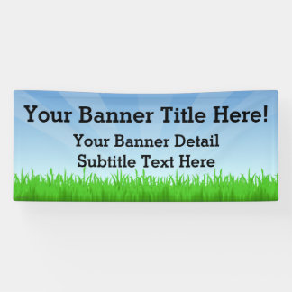 Custom Personalized 6' Wide Summer Scene Banner