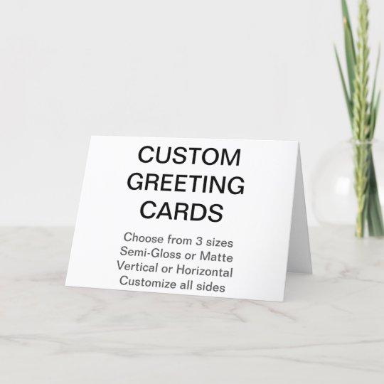 Custom personalized 7 x 5 photo greeting card zazzle custom personalized 7 x 5 photo greeting card m4hsunfo