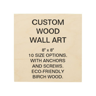 "Custom Personalized 8"" x 8"" Wood Wall Art Blank"