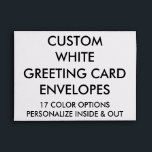 """Custom Personalized A7 Greeting Card Envelope<br><div class=""""desc"""">Custom printed personalized STANDARD 7 &#188;&quot; x 5 &#188;&quot; A7 INVITATION &amp; CARD ENVELOPE, BASIC PAPER TYPE &amp; CLEAR BACKGROUND (CUSTOMIZE TO ANY COLOR) Blank Template. Design, create, make your own. Your photo, image, text in full color edge-to-edge print on every single inch of the envelope, inside and out. Optional...</div>"""