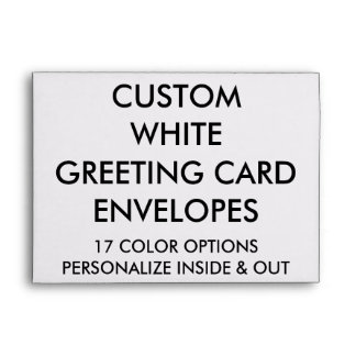 Custom Personalized A7 Greeting Card Envelope