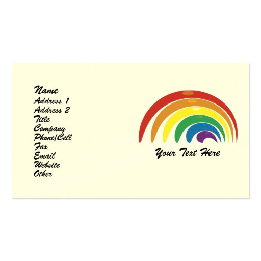 Custom Personalized Abstract Rainbow Biz Cards Business Card