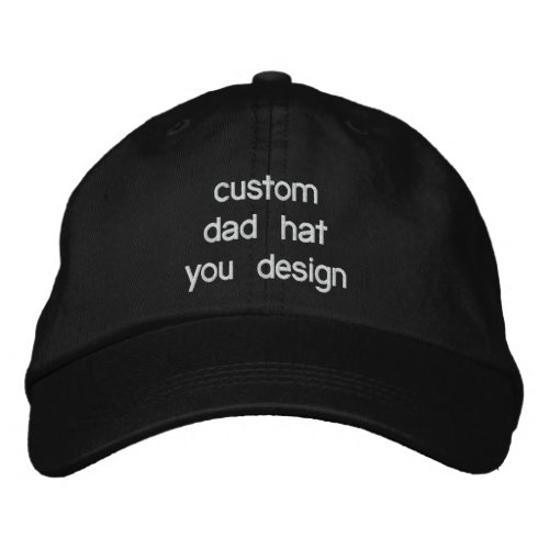Custom Personalized Adjustable Dad Hats You Design