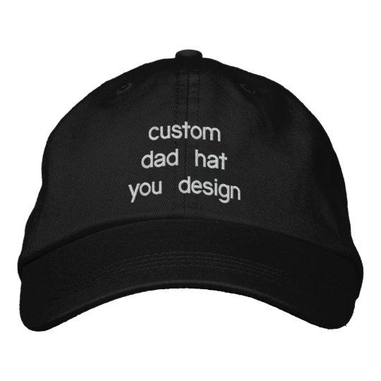 68905e8a Custom Personalized Adjustable Dad Hats You Design   Zazzle.com