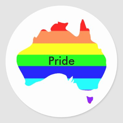 Custom Personalized Aussie Gay Pride Stickers