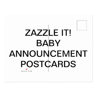 Custom Personalized Baby Announcement Postcards