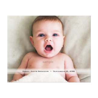 Custom Personalized Baby Picture Gallery Wrapped Canvas