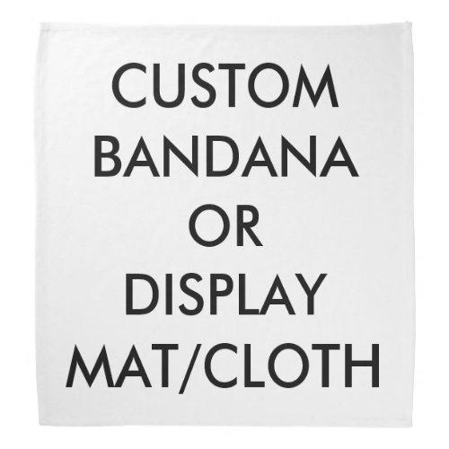 Custom Personalized Bandana  Cloth Blank Template