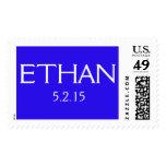 Custom Personalized Bar Mitzvah Postage Stamp