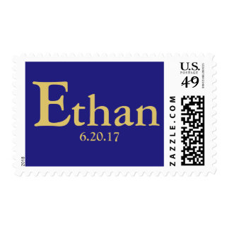 Custom personalized Bar Mitzvah Postage Stamp