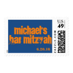 Custom Personalized Bar Mitzvah Stamp