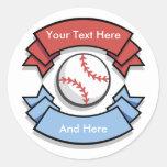 Custom Personalized Baseball Stickers