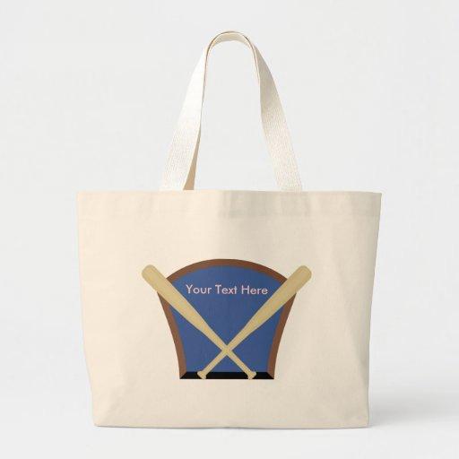 Custom Personalized Baseball Tote Bags