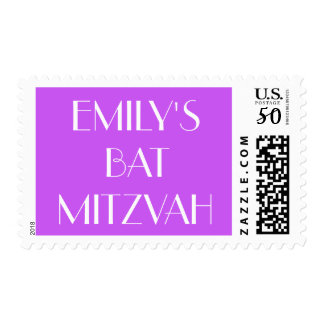 Custom Personalized Bat Mitzvah Postage Stamp