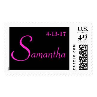 Custom Personalized Bat Mitzvah Postage Stamp