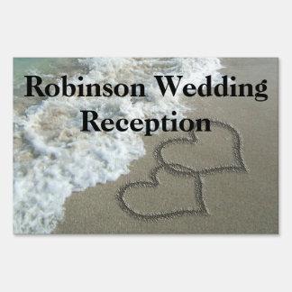 Custom Personalized Beach Wedding Reception Signs