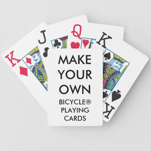 Custom Personalized Bicycle Playing Cards