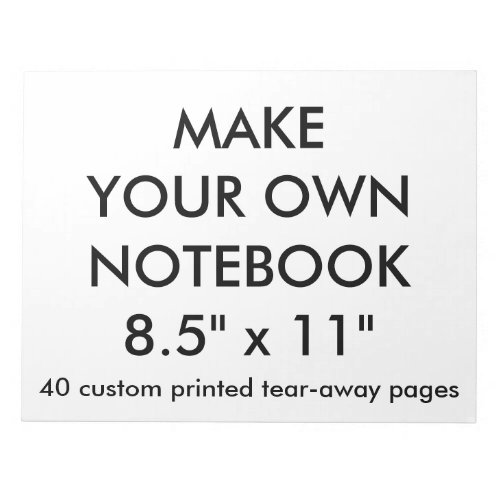 Custom Personalized Big 40 Tear_Away Page Notepad