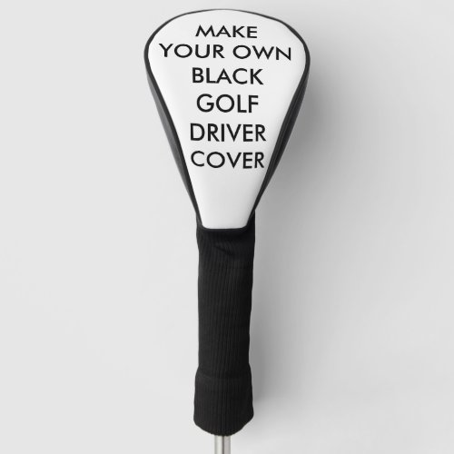 Custom Personalized Black Golf Driver Club Cover