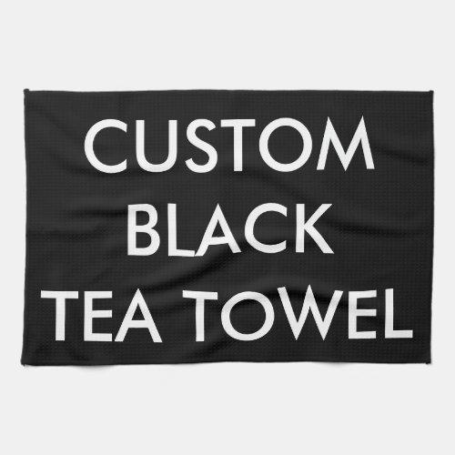 Custom Personalized Black Kitchen Tea Towel
