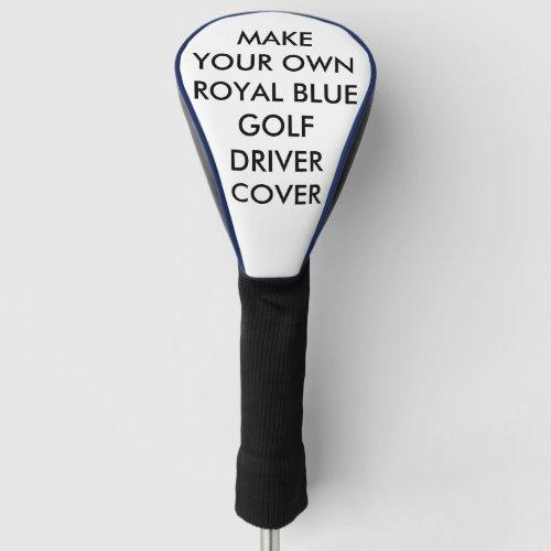 Custom Personalized Blue Golf Driver Club Cover