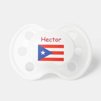 Custom Personalized Boricua Bandera Manuel's fave Pacifier