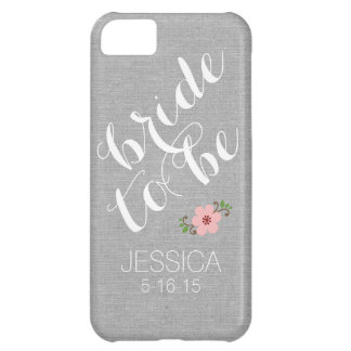 Custom personalized bride to be name wedding date cover for iPhone 5C