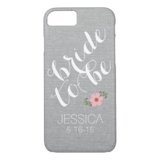 Custom personalized bride to be name wedding date iPhone 7 case