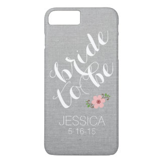 Custom personalized bride to be name wedding date iPhone 7 plus case