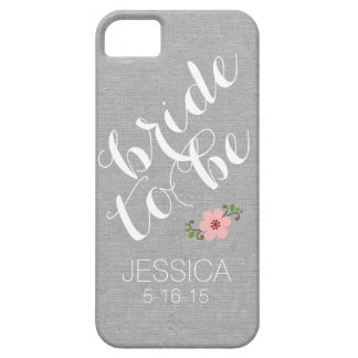Custom personalized bride to be name wedding date iPhone SE/5/5s case