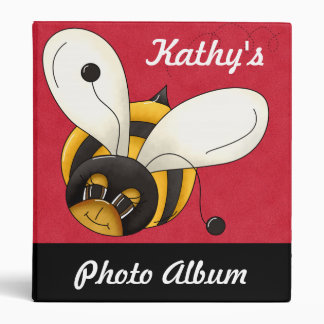 Custom Personalized Bumblebee Photo Album Binder