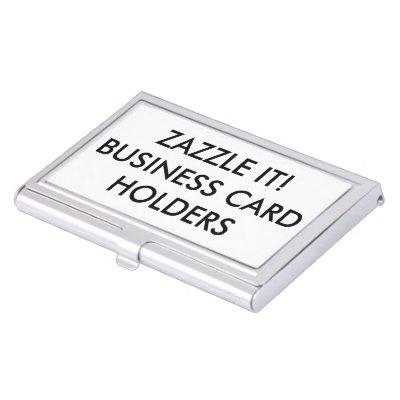 Create your own business card holder zazzle colourmoves