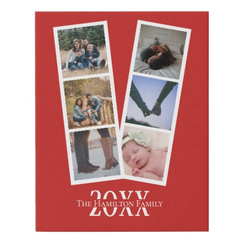 Custom personalized by you 6 photo collage faux canvas print