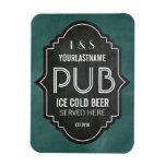 Custom Personalized Chalkboard Pub Sign Magnets