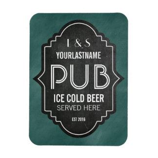 Custom Personalized Chalkboard Pub Sign Rectangular Photo Magnet