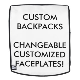 Custom Personalized Changeable Face for Backpack