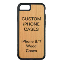 Custom Personalized Cherry Wood iPhone 8/7 Case