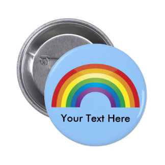 Custom Personalized Classic Rainbow Buttons